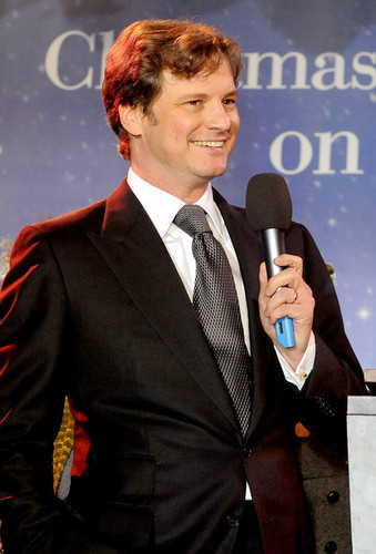 Colin Firth turns on the Christmas lights at Regent Street