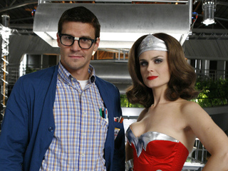 "Bones and Booth as ""Wonderwoman and a Squint"""