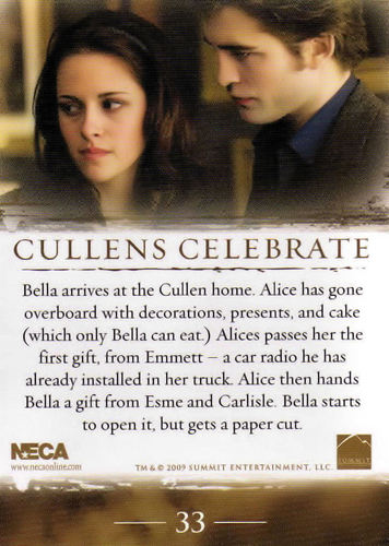 New Moon Trading Cards - back side (SPOILER ALERT)