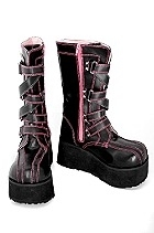Demonia Pink and Black Boots
