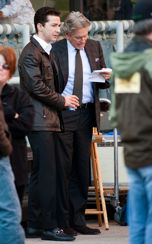 On Set of 'Wall Street 2: Money Never Sleeps'