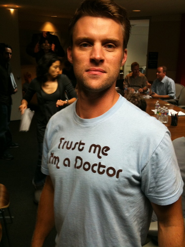 jesse spencer on the set