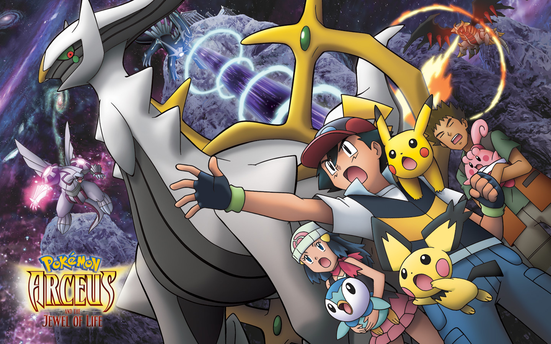 Arceus And The Jewel Of Life Legendary Pokemon Wallpaper