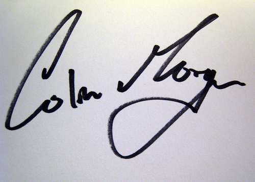 Colin morgan Signature