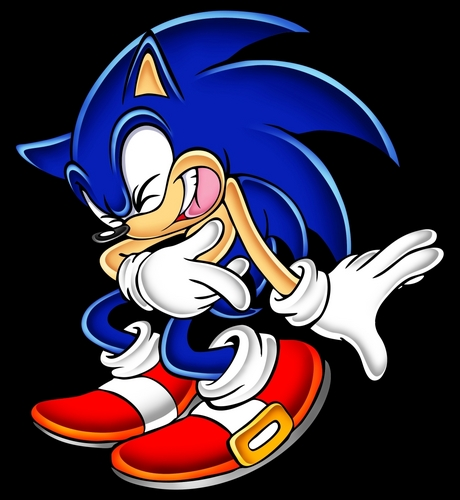 Sonic laughing