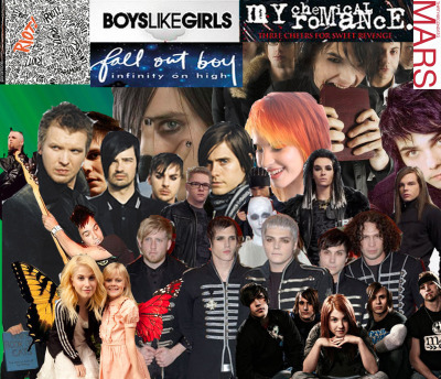 Different Rock Bands Collage