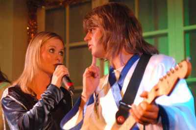 Abba Inferno top, boven UK abba tribute band
