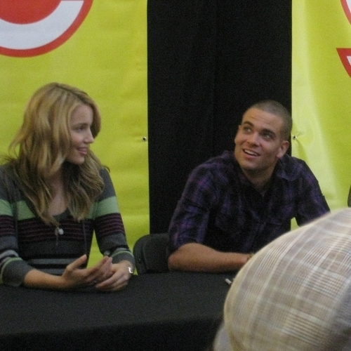 Dianna Agron and Mark Salling