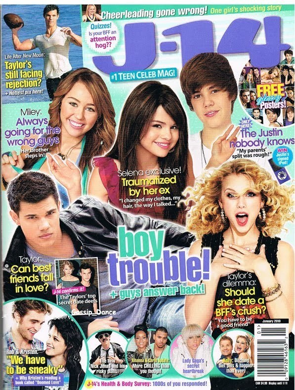 Rob, Kristen and the Twi-cast in J-14 Magazine