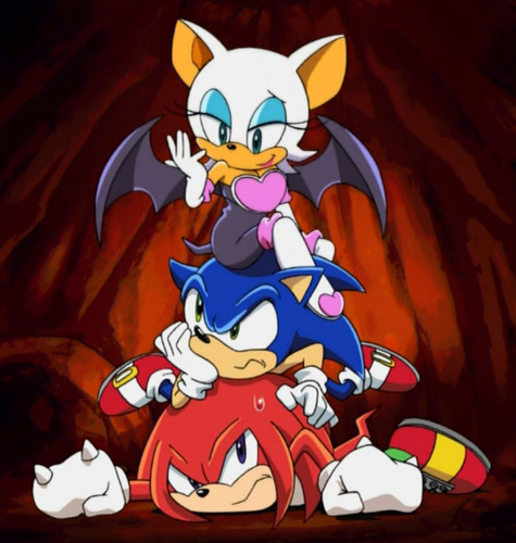 Rouge, sonic, and kunckles