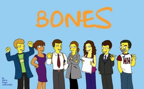 Bones as Simpsons