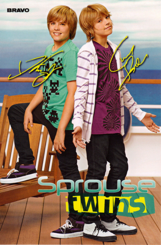 "Sprouse Twins (a photocard with autographs of the german magazine ""Bravo"")"