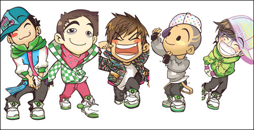big bang cartoon