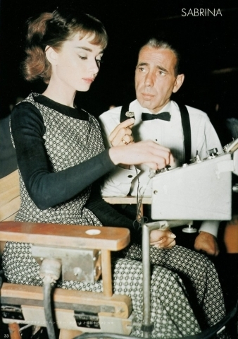 Audrey and Humphrey Bogart. -1954