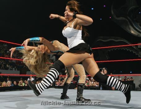 Mickie James action Photos