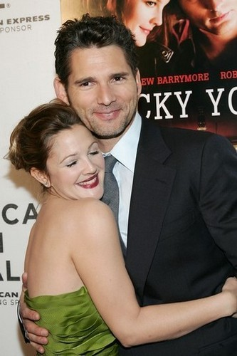 Eric with Drew Barrymore