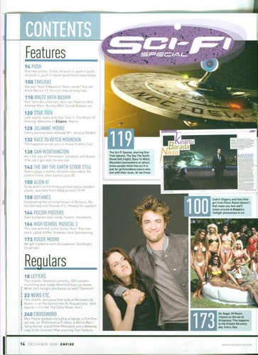 Empire magazine December issue scans