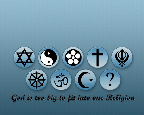 God is too big to fit into one religion দেওয়ালপত্র