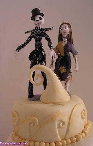 Jack and Sally wedding cake