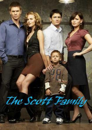 the scotts - lucas,peyton,nathan,haley,jamie