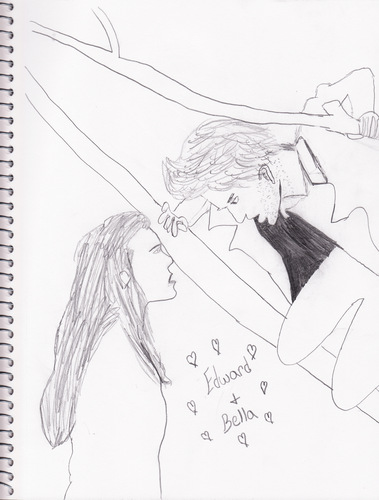 A drawing of Edward and Bella that I drew