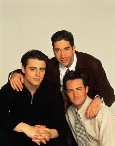 Chandler, Ross and Joey