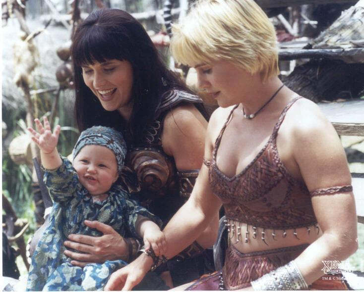 Xena, Gabrielle and baby Eve