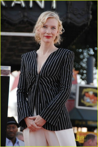 Cate Gets Her star, sterne on Walk of Fame