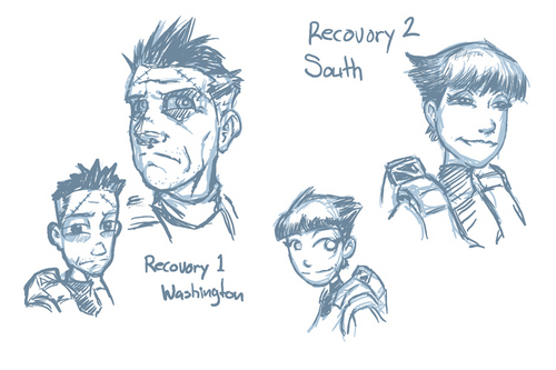 Luke McKay Sketches: Wash and South