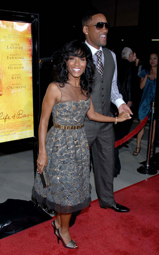 Will and Jada at The Secret Life of Bees premiere
