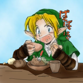 link loves to eat