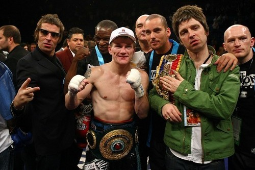 Liam and Noel with Ricky Hatton