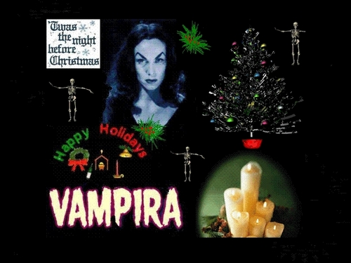 Merry Christmas From Vampira!