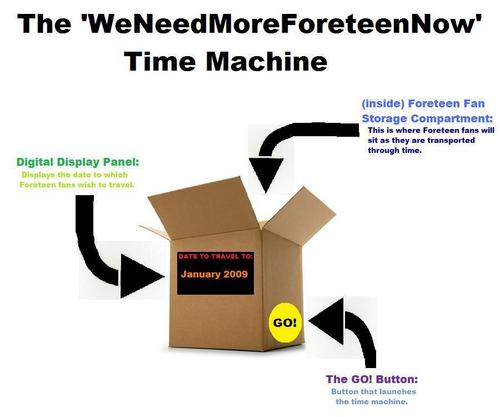The 'WeNeedMoreForeteenNow' Time Machine