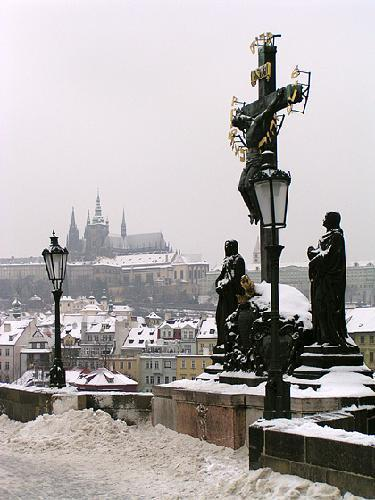 View of Prague замок from the bridge