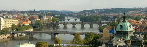Vltava river and bridges