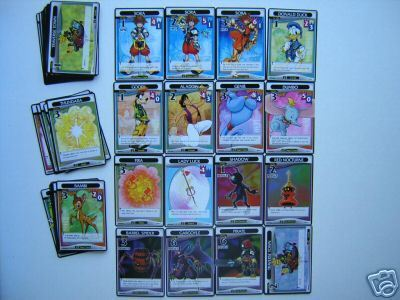 kingdom hearts trading cards