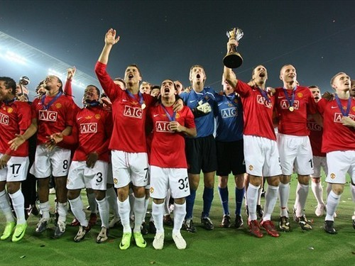 Manchester United win Club World Cup जापान 2008