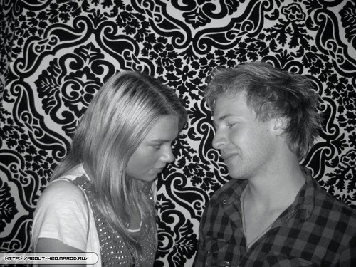 Indiana Evans and Angus McLaren<3