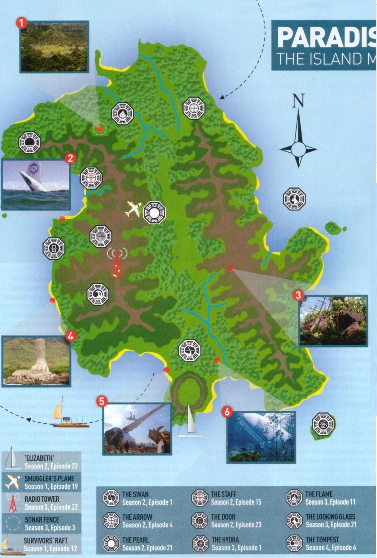 Lost Island Map by empire magazine