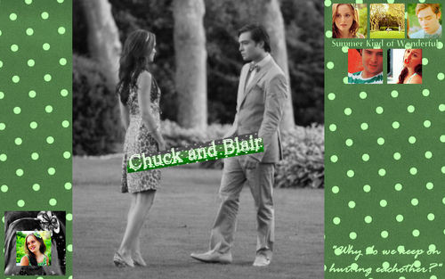 Chuck and Blair- Summer Kind of Wonderful mural