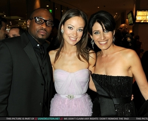 Omar Epps, Olivia Wilde and Lisa Edelstein @ The Golden Globes 2009