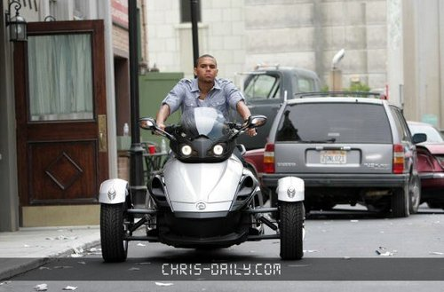 "Chris on Set of ""SuperHuman"" Music Video"