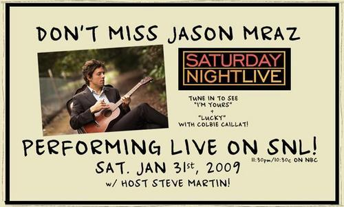 Jason is going to be on SNL!!