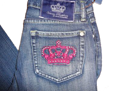 jeans with crowns