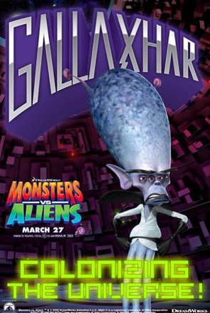 Monsters vs. Aliens Retro Character Posters