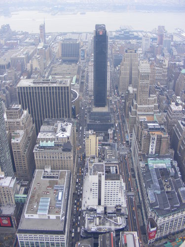 straight down view from the empire state