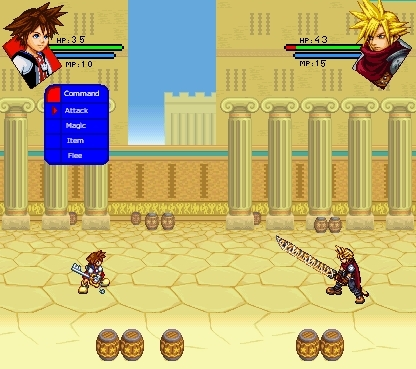 RPG Screens: Sora vs. Cloud