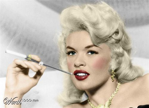 Jayne Mansfield (colorized)