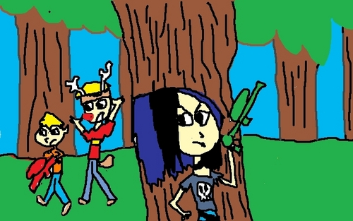 TDI fanfiction:paint ball deer hunter JG, Calvin, and Clay